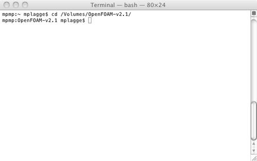 Installation/Mac OS/OpenFOAM 2 1 x - OpenFOAMWiki