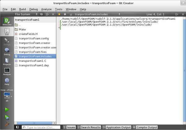 HowTo Use OpenFOAM with QtCreator - OpenFOAMWiki